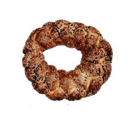 خبز فرنسي بالسمسم مدور