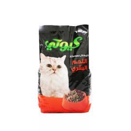 كيوتي طعام قطط لحم بقري 1.5 كجم