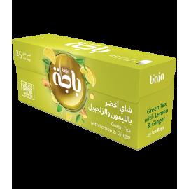 باجة شاي اخضر ليمون وزنجبيل 25 كيس