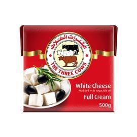 البقرات الثلاث جبنة بيضاء كامل الدسم 500جم