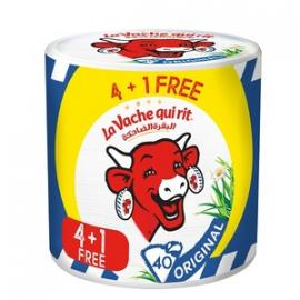 البقرة الضاحكة جبنة مثلثات 8 حبة 120جم 4+1