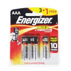 انرجايزر ماكس AAA بطارية 1.5 فولت 3+1