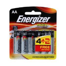 انرجايزر ماكس AA بطارية 1.5 فولت 4+2