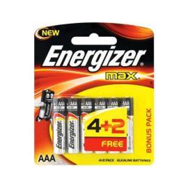 انرجايزر ماكس AAA بطارية 1.5 فولت 4+2