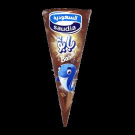 السعودية بابو ايس كريم شوكولاتة 110مل قمع