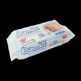 بامبي مناديل مبللة كريم 64 حبة