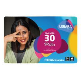 ليبارا بطاقة شحن 30