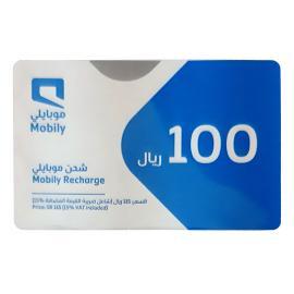 موبايلي بطاقة شحن 100