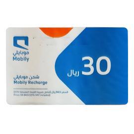 موبايلي بطاقة شحن 30