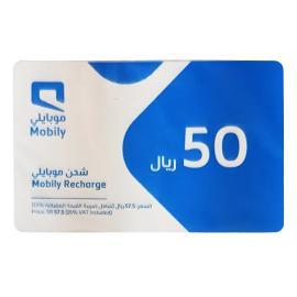 موبايلي بطاقة شحن 50