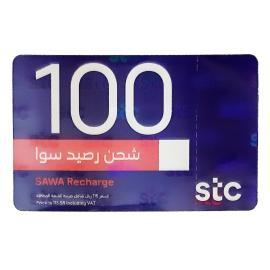 سوا بطاقة شحن 100