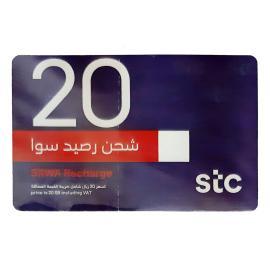 سوا بطاقة شحن 20