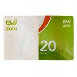 زين بطاقة شحن 20