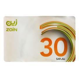 زين بطاقة شحن 30
