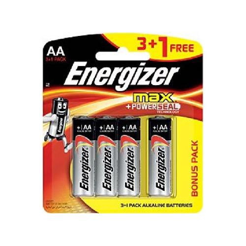 انرجايزر ماكس AA بطارية 1.5 فولت 3+1
